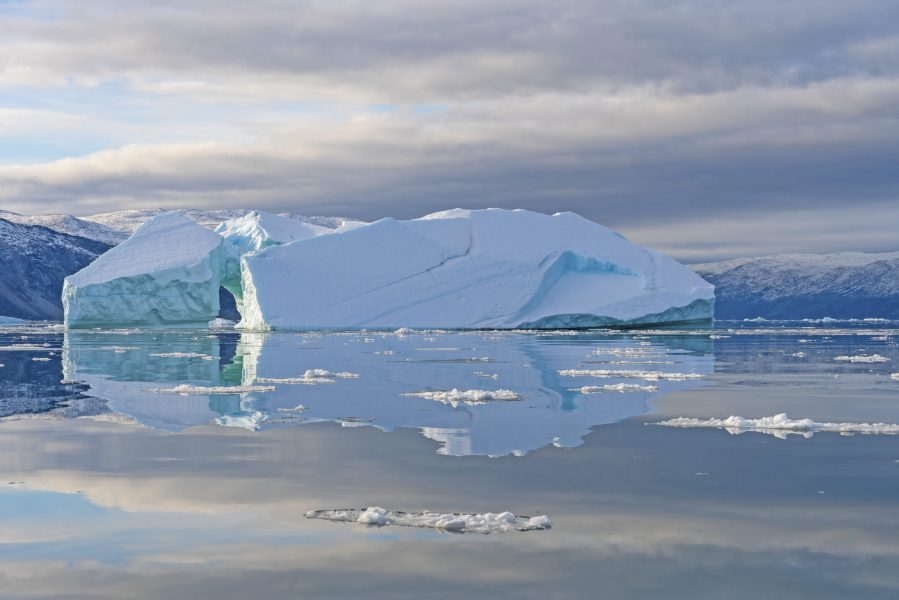 Calm Reflections in the Arctic near Equip Sermia in Greenland