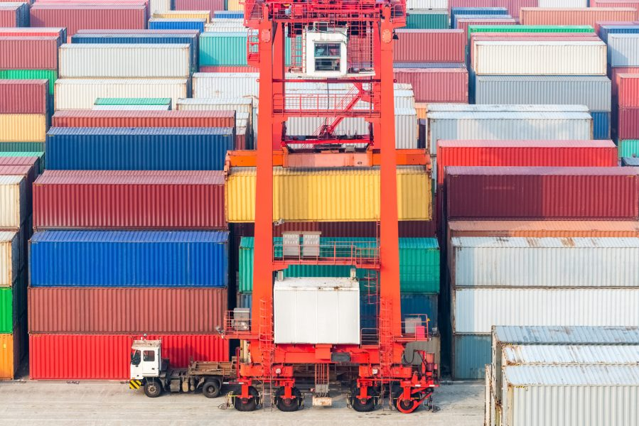 container freight station, container yard and transtainer